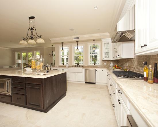 استفاده از سنگ گرانیت در آشپزخانه به صورت هماهنگ
