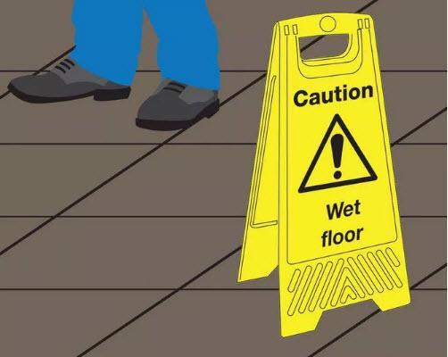 گام پنجم پاك كردن سنگ مرمر - صبر برای خشک شدن کف