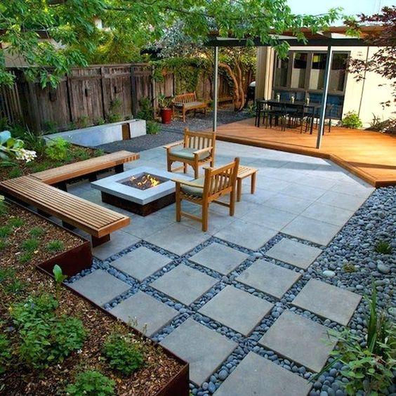 عکس سنگ فرش - ایده ای برای سنگ کف حیاط